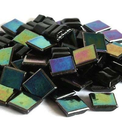 203 Vitreous Irridescent Mosaic Tiles 10mm - Jet Black