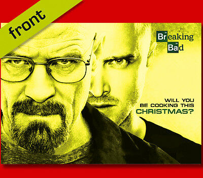 BREAKING BAD No1 Signed Reproduction Autograph CHRISTMAS Card