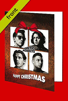 ARCTIC MONKEYS Signed Reproduction Autograph CHRISTMAS Card