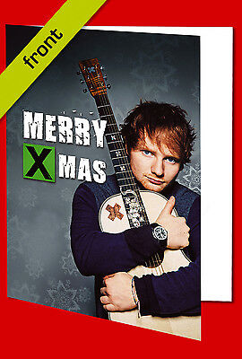 ED SHEERAN Signed Reproduction Autograph CHRISTMAS Card