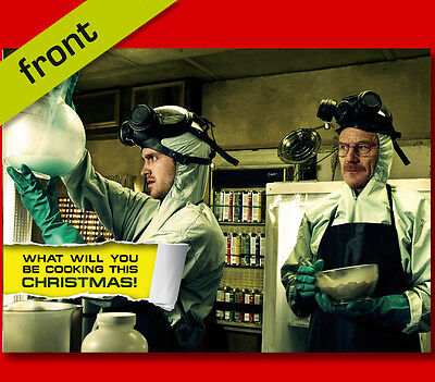 BREAKING BAD No2 Signed Reproduction Autograph CHRISTMAS Card