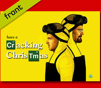 BREAKING BAD No3 Signed Reproduction Autograph CHRISTMAS Card