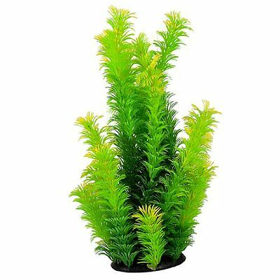 sourcingmap Rubber Base Manmade Fish Tank Plant, 9.4-inch, Green/ Yellow