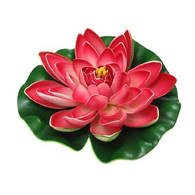 Sourcingmap Foam Garden Pond Floating Water Plant Lotus, Green/ Red