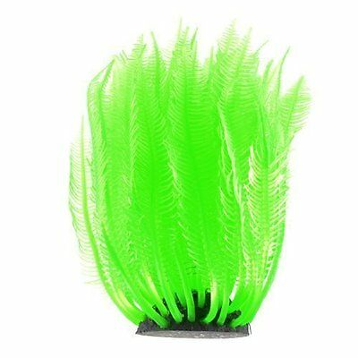 Decorative Green Silicone Underwater Grass Plants 11cm Height for Aquarium