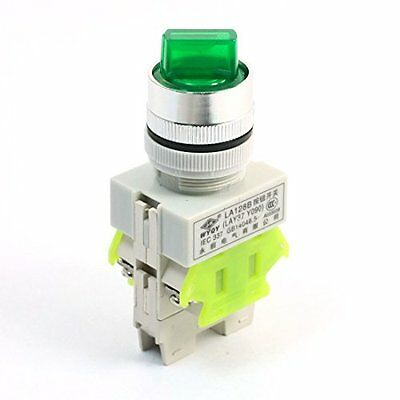 660V 10A 3P Selector Green Light Self Locking DPST Rotary Switch