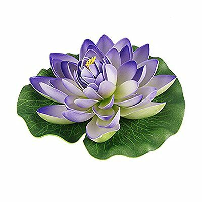 Sourcingmap Foam Aquarium Ornament Lotus, 7-inch, Purple/ Green