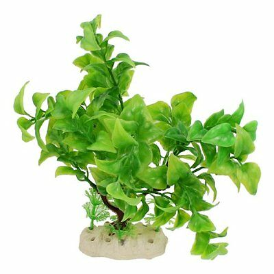 Sourcingmap Plastic Fish Tank Manmade Water Plant Tree, 8.5-inch, Green