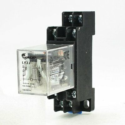 LY2J 6V DC Coil General Purpose Power Relay 8Pin 10A 240VAC/28VDC w Socket