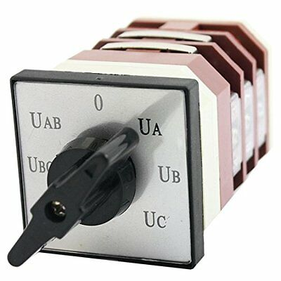 AC500V 16A 7-Position 12 Screw Terminals Rotary Cam Changeover Switch