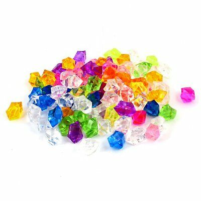 108 Pcs Plastic Crystal Stones Ornament Assorted Color for Fish Tank