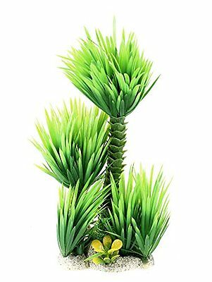Sourcingmap Plastic Aquarium Decoration Water Grass Plant, 9.8-Inch, Green