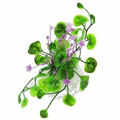 Sourcingmap Plastic Flowers Leaf Aquarium Fish Tank Plants Grass, Purple/Green