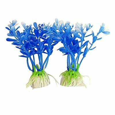 Sourcingmap Fish Tank Aquarium Aquatic Plants Decor, 3.5-Inch, Blue