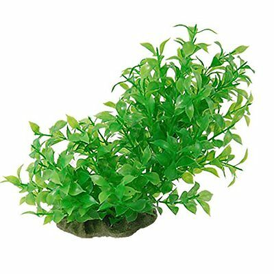 Sourcingmap Plastic Fish Tank Grass Plant Decor, 6-Inch Length, Green