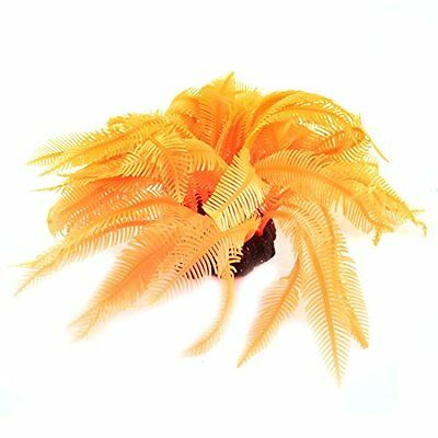 Sourcingmap Silicone Aquarium Underwater Coral Plant Decor, 13 cm, Orange