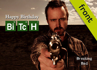 BREAKING BAD No2 Signed Reproduction Autograph Birthday Card