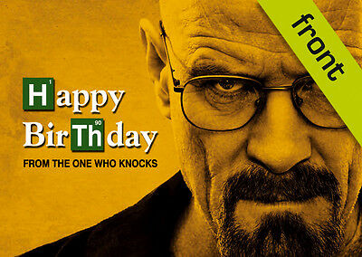 BREAKING BAD No3 Signed Reproduction Autograph Birthday Card