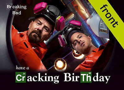BREAKING BAD No1 Signed Reproduction Autograph Birthday Card