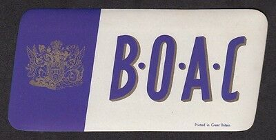 Vintage BOAC Luggage Label - British Overseas Airways Corporation  c 1950's