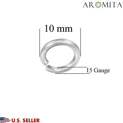 Wholesale Stainless Steel Open Jump Rings Jewelry Findings 10mm Dia 15 Gauge