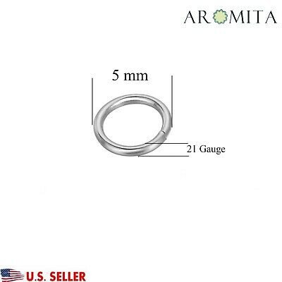 Wholesale Stainless Steel Open Jump Rings Jewelry Findings 5mm Dia 21 Gauge