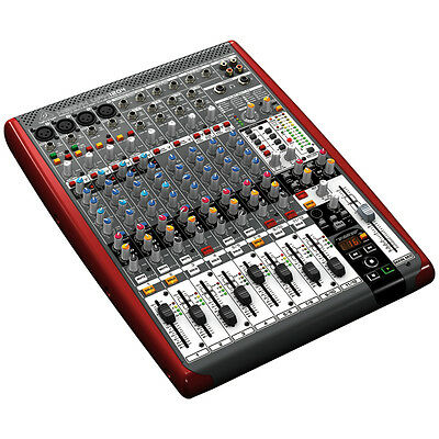 BEHRINGER XENYX UFX1204 12-Channel USB/FireWire Mixer Interface FX Live Studio