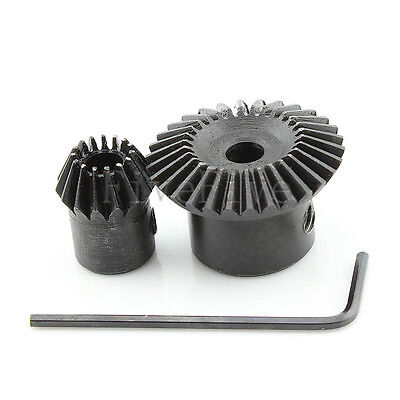 1M-30T-15T Metal Umbrella Tooth Bevel Gear 90° Angle Set Kit Ratio 2:1