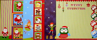 "**CUTE CHRISTMAS**  Christmas Scrapbooking Papers x 12  *30cm x 30cm (12"" x 12"")"