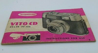 Voigtlander  VITO CD Camera Instruction manual
