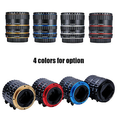 NEW Metal Auto Focus AF Macro Extension Tube/Ring Set For CANON Camera EF-S Lens