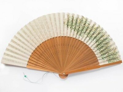 Unused Vintage Japanese 'Sensu' Folding Fan Bamboo Grove from Kyoto: SeptB