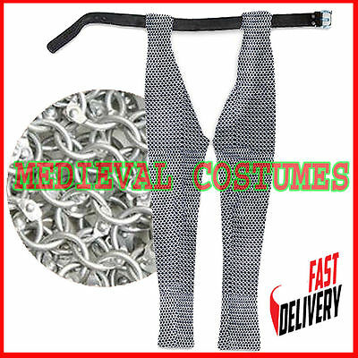 Aluminum Medieval Chain Mail Legging Round Riveted Chainmail Chausses Medium