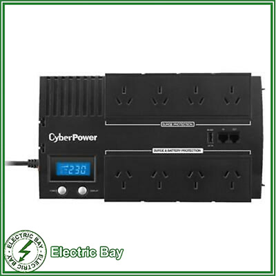 CyberPower BRICs LCD UPS 1200VA Power Supply Surge Protector 8 Way Power Board