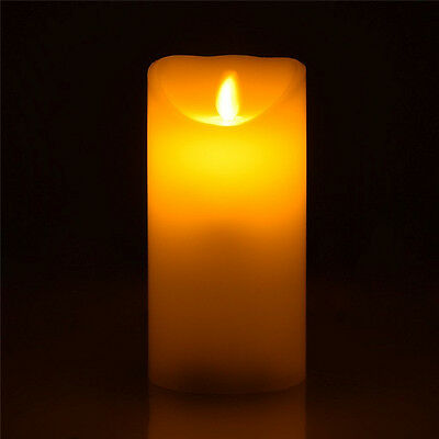 Flameless LED Candle 4inch/6inch Real Wax Flickering Candle Motion Remote On/Off