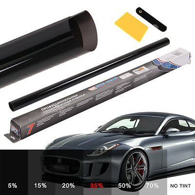 35% PRO LIGHT SMOKE BLACK CAR WINDOW TINT ROLL FILM TINTING BUS 6M x 76CM