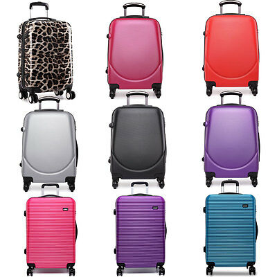 "20"" Abs Lightweight Travel Carry  Luggage 4 Wheeled Trolley Cabin Case"