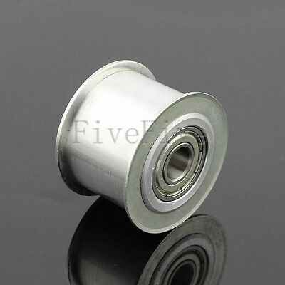 8/10mm Bore Smooth Idler Pulley With Bearing 15mm Width HTD 5M 3M 8M Timing Belt
