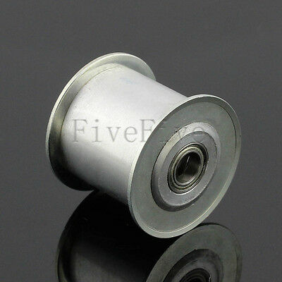 8/10mm Bore Smooth Idler Pulley With Bearing 20mm Width HTD 5M 3M 8M Timing Belt