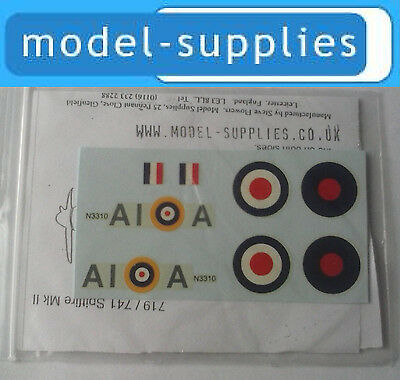 Dinky 719 Dinky Spitfire A squadron reproduction decal set