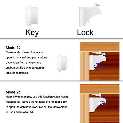 10pcs Invisible Baby Safety Magnetic Cabinet Locks Child Proof Cupboards Drawers