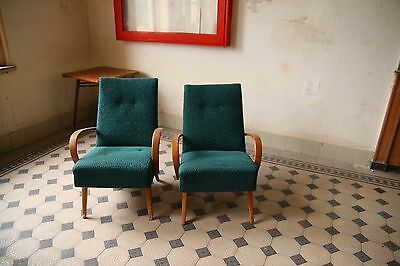 Pair of Blue/Turquoise Lounge Chairs