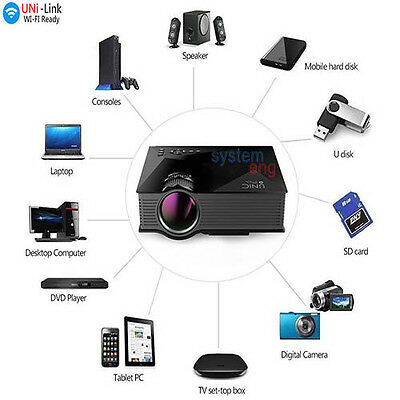 Videoproiettore Led Wifi Ready  Cinema Casa Console Pc Pen Driver