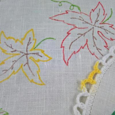 Set 2 Vintage Hobbytex Painted Doilies Unfinished