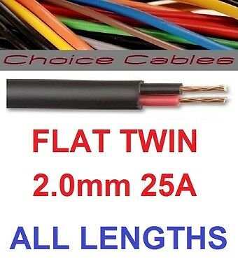 Flat Twin 2mm 17.5amp Low voltage 2 core 12v 24v Auto DC Cable Wiring Loom 4m