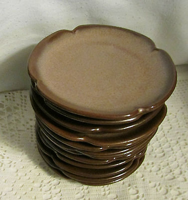 """Sale Is For One(1)Frankoma Pottery Brown Satin 5E Plainsman 5.5"""" Saucer Plate"""
