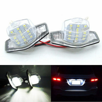LED License Number Plate Light Honda Fit Jazz CR-V FR-V Stream Odyssey Crosstour