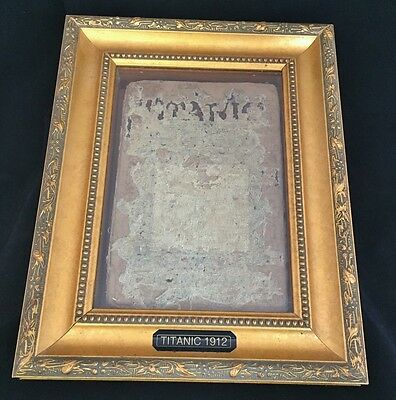 Old Vintage 1912 The Sinking of TITANIC Book Framed Ship Nautical Marine Boat