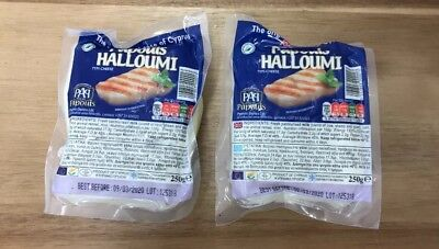 Halloumi Cheese 2 X 250g The Local Cheese Of Cyprus Cow,sheep,goat Milk