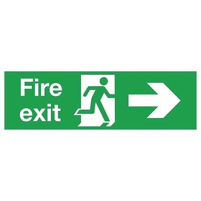 Signs and Labels Safety Sign Fire Exit Running Man Arrow Right PVC FX04411R